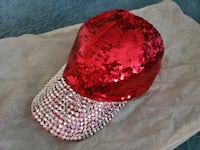 Red Sequined Cap Bowie, 20715