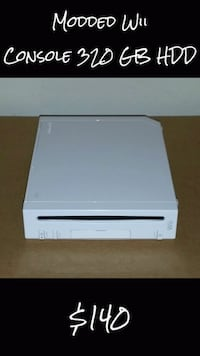 Modded Wii Console 320 GB HDD Los Angeles, 91401