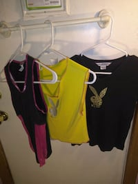 3 playboy shirts small and large(like all smalls) Fairborn, 45324