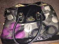 black and white Coach leather tote bag Columbus, 43235