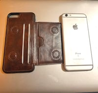 iPhone 6S with leather wallet case  Coquitlam, V3J 7Y7