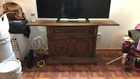 brown wooden tv stand Arvada, 80002