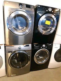 SAMSUNG FRONT LOAD WASHER AND DRYER SET WORKING PERFECTLY