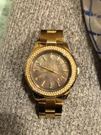 round gold Michael Kors chronograph watch with link bracelet Germantown, 20874