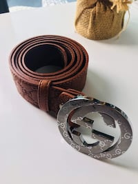 Gucci leather belt with double G buckle  Manassas, 20110