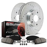 Power Stop K5583 Front Z23 Evolution Brake Kit with Drilled/Slotted Ro