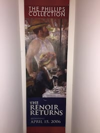 """The Renoir Returns...""Museum Banner"