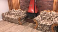 Brown and beige floral sofa chair Winnipeg, R3T 5K1