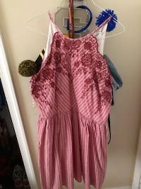 This is a red dress never worn it is an XL Stafford, 22556