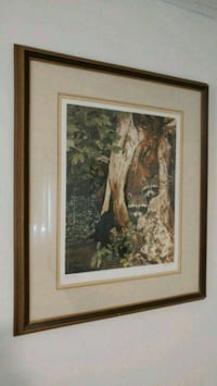 "Ron Parker Print ""Racoon Pair"" Pickering, L1V 3A9"