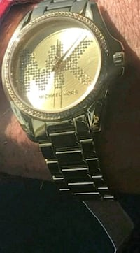 Mens diamond accent gold plated Michael kors watch New Hope