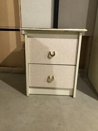 White wooden 2-drawer nightstand London, N6G 5P6