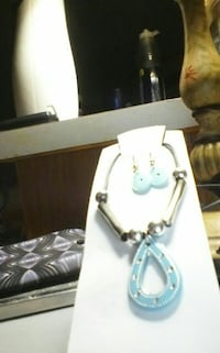silver and teal jewelry set Roanoke, 24012