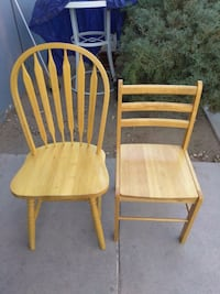 two brown wooden windsor chairs North Las Vegas, 89032