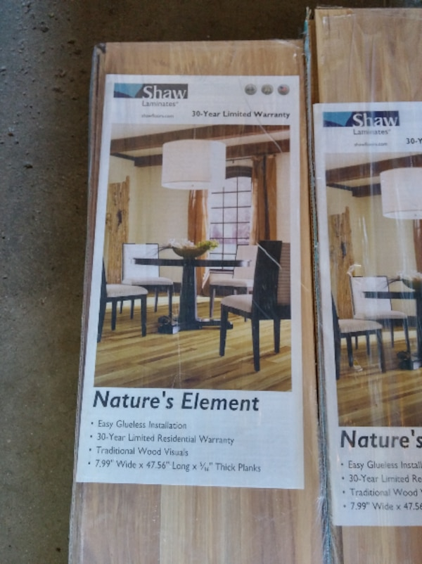 Used 6 Cartons Shaw Natures Element Laminate Flooring For Sale In