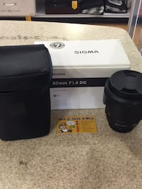 LIKE NEW SIGMA 50MM F1.4 DG LENS (NIKON)  Toronto, M1H 2A4