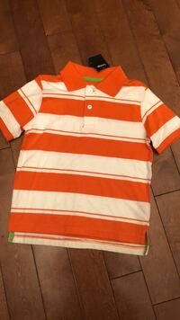 white and red stripe polo shirt Laval, H7A 1A2