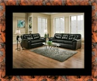 Black bonded sofa and loveseat College Park, 20741