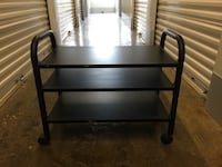 Black wooden rolling side table Silver Spring, 20901