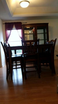 rectangular brown wooden table with six chairs dining set Manassas Park, 20111