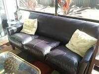 Black Leather Sofa Longwood, 32750