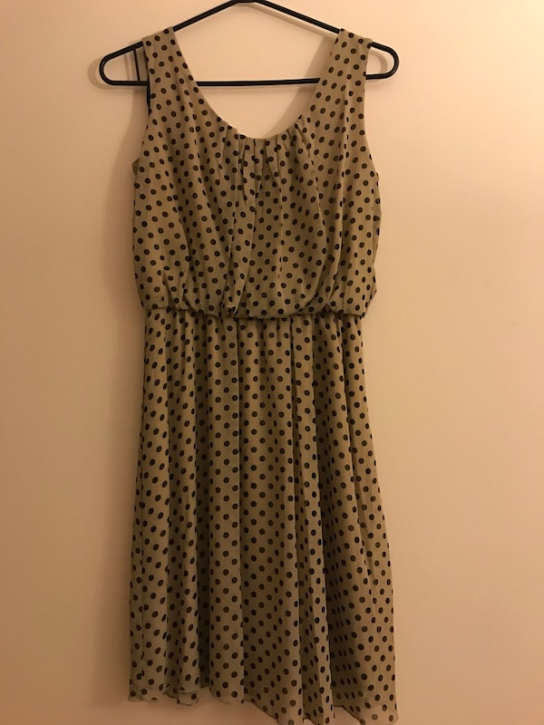 Beige polka dot dress