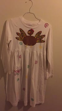Adorable girl's age 7-8 Thanksgiving dress from Cotton Colors.