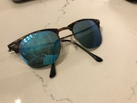 Ray-Ban Clubmaster Light Ray tortoise frame with reflective lenses Toronto, M5V 3N3
