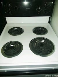 white and black 4-burner gas range Capitol Heights, 20743
