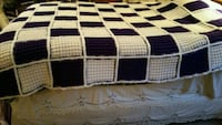 Exquisite Purple and Toffee Waffle-Stitch Afghan Gettysburg, 17325