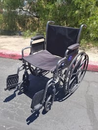 black and gray wheelchair with gray metal base Los Angeles, 90012