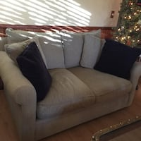Sage fabric 2-seat sofa plus sectional pieces