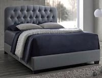 Tilda Light Gray Upholstered Queen Bed | 5274 Houston, 77019