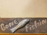 Older Gone Fishing Sign ,great for fathers day