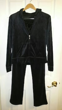 Never worn, Women's black velour hooded sweat suit