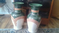 "$30 for both large ceramic vases. Height - 21""  Kitchener"