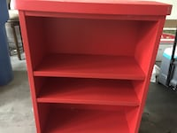 red wooden rack