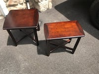 Two wood end tables Annapolis, 21401
