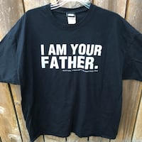 """Star Wars """"I am your father"""" short sleeve black t-shirt mens 2XL Independence, 97351"""