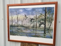 """Wood Duck signed lithograph """"Home Again"""""""