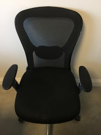 black and gray rolling armchair 90048