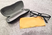 Black Ray Ban reading glasses with original case, delivery available Oakville, L6H