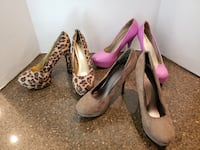 3 pair of women's high heel pumps size 7.5 Price is for all  Manassas, 20112