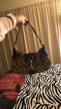 Coach small purse tan and brown