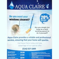 Aqua Claire - residential and commercial window cleaning Laval, H7L 5V2