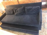 Blue Suede trundle Couch PHILADELPHIA