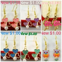 New Small Size Earrings in plastic Modesto