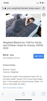 Weighted Blanket by YnM for Adults and Children Great for Anxiety, ADHD, OCD Bakersfield, 93306