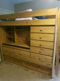 brown wooden bunk bed Corpus Christi, 78413