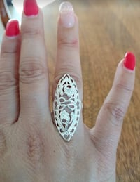 Sterling Silver Overlay Filigree Ring Sz 8 Greenville, 29617